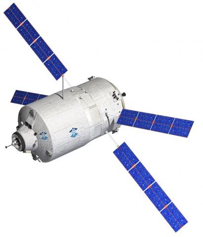 Das Automated Transfer Vehicle (ATV) ist ein einzigartiges Raumfahrzeug: Es navigiert autonom und dockt auch selbstständig an der ISS an. (Grafik: D. Ducros/Esa)