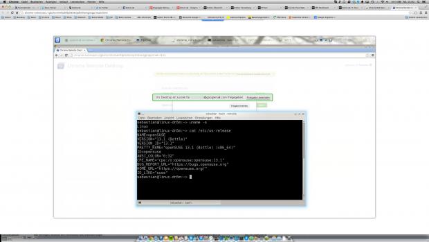 Remote-Zugriff von Mac OS X auf ein Linux-System mit Chrome Remote Desktop