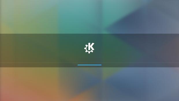 Der Startbildschirm von Plasma 5 (Bild: KDE / Screenshot Golem.de)