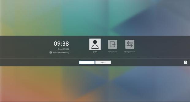 Der Screenlocker ...(Bild: KDE / Screenshot Golem.de)