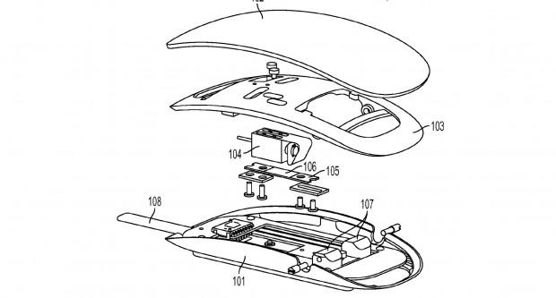 "Patentantrag 20140225832 (""Force Sensing Mouse"") (Bild: US-Patent- und Markenamt)"