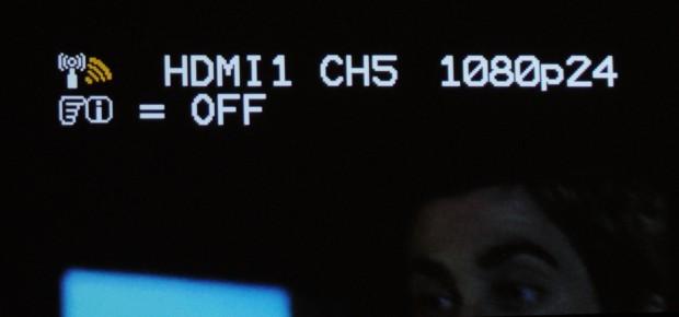 Ein Overlay des Empfängers zeigt die Auflösung und den IR-Kanal an. (Bild: Nico Ernst/Golem.de)
