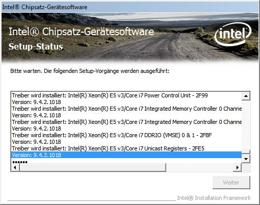 Dass der 5960X ein Xeon ist, verraten schon Intels Chipsatz-Treiber. (Screenshot: Golem.de)