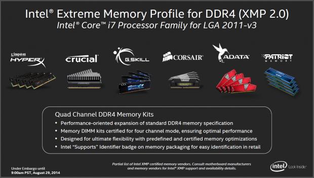 DDR4-Module gibt es von allen großen Marken. (Folien: Intel)