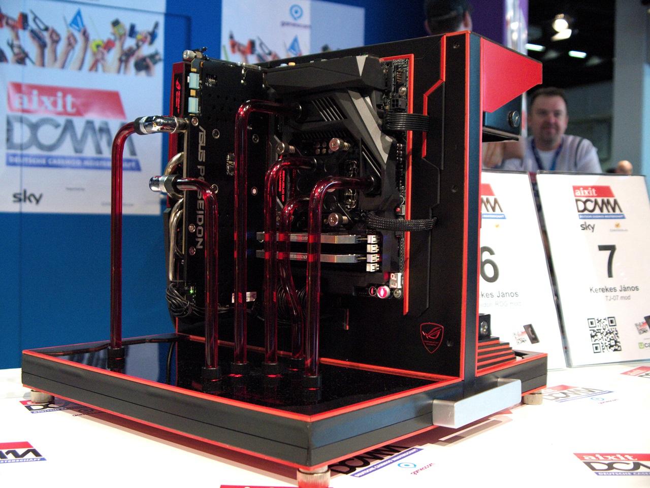 """DCMM 2014: Wenn PC-Gehäuse zu Kunstwerken werden - """"Poseidon ROG Mod"""" von Kerekes Janos (Bild: Sebastian Wochnik/Golem.de)"""