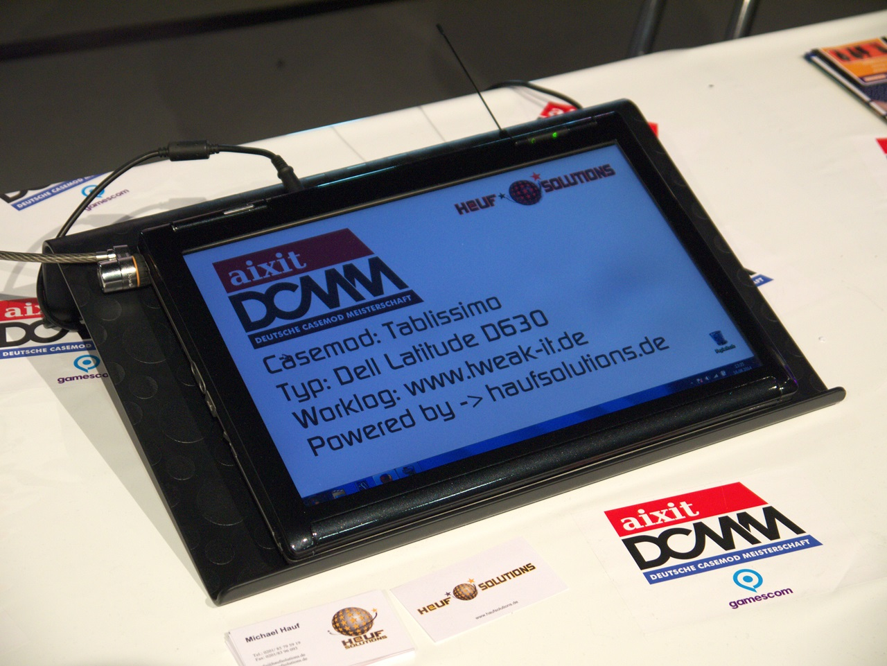 """DCMM 2014: Wenn PC-Gehäuse zu Kunstwerken werden - """"Tabllisimo"""" von Michael Hauf (Bild: Sebastian Wochnik/Golem.de)"""