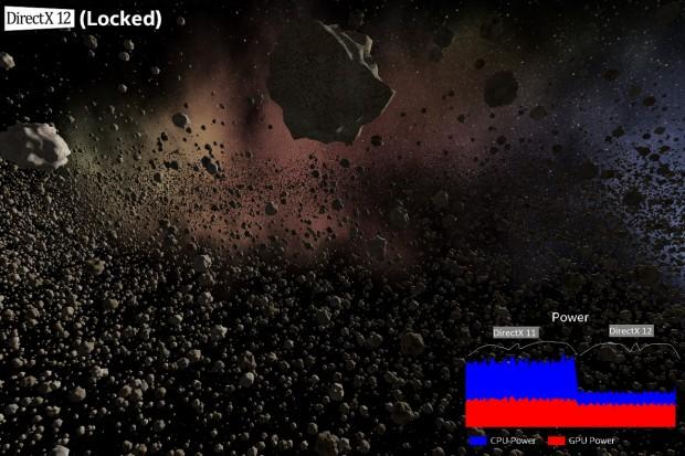 Beim Umschalten auf DirectX-12 halbiert sich die Energieaufnahme der CPU.... (Bild: Intel)