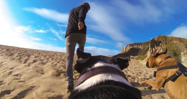 Kameraaufnahme vom Rücken ...  (Bild: Gopro)