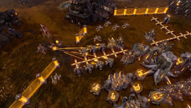 Humans gegen Beta (Screenshot: Petroglyph Games)