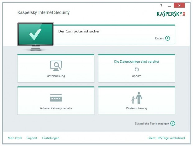 Kaspersky Internet Security 2015 (Bild: Kaspersky Lab)
