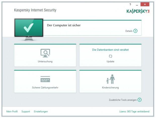 Kaspersky Internet Security 2015 (Bild: Kaspersky Lab)