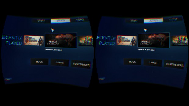 Steam im Virtual Reality Mode (Screenshot: Marc Sauter/Golem.de)