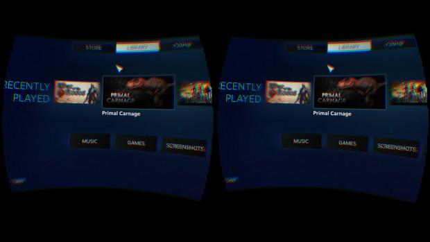 Steam im Virtual Reality Mode (Screenshot: Marc Sauter/Golem.de)