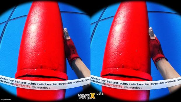Mirror's Edge mit VorpX-Treiber (Screenshot: Marc Sauter/Golem.de)