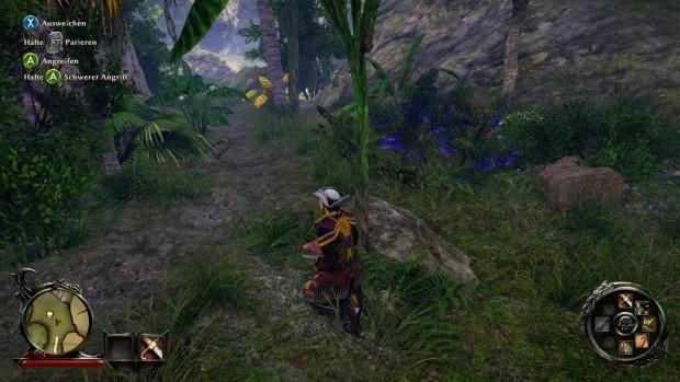 Mit dem Gamepad werden die Spezialfähigkeiten und Items auf das digitale Steuerkreuz gelegt.