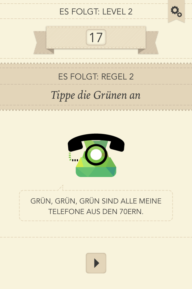 Test Rules: Gehirntraining für Fortgeschrittene - Rules (Screenshot: Golem.de)