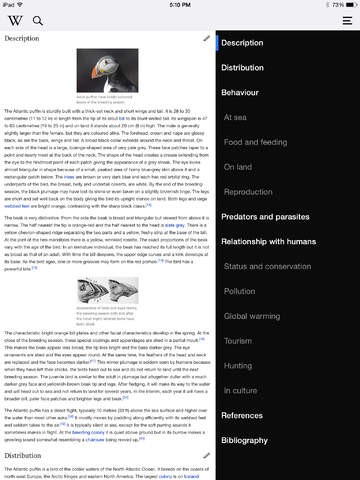 Wikipedia Mobile für iOS (Bild: Apple)