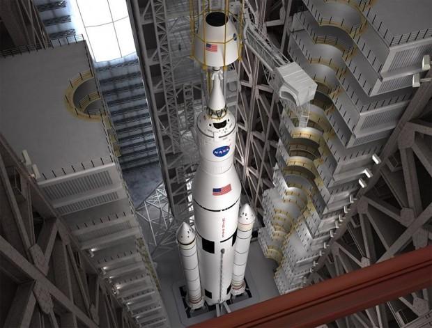 Das Space Launch System ist die neue Trägerrakete der Nasa. (Bild: Nasa)