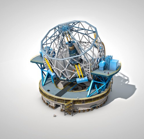Das optische Teleskop European Extremely Large Telescope (E-ELT) soll in den 2020er Jahren seinen Betrieb aufnehmen. (Bild: Eso.org)