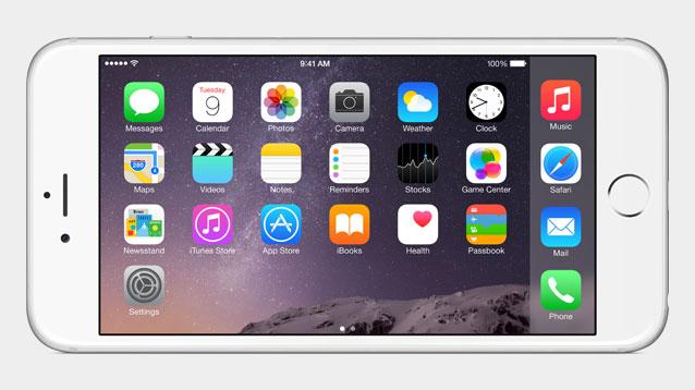 Neue iPhones: O2 und Telekom preschen beim Vorverkauf vor - Der Homescreen kann nun auch im Landscape-Format angezeigt werden. (Bild: Apple)