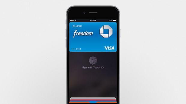Eine Transaktion wird mit dem eigenen Fingerabdruck bestätigt. (Bild: Apple)