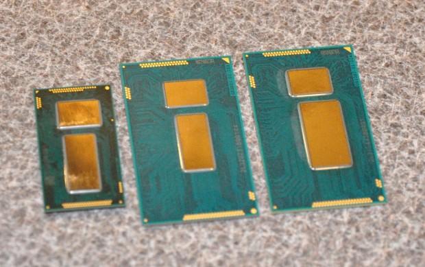 Core M (links) im Vergleich mit Haswell- und Ivy-Bridge-Packages für Notebooks (Bild: Nico Ernst)