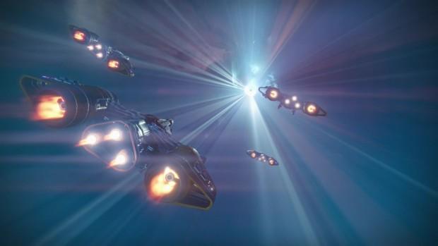 Nett: Wenn wir zu Multiplayerpartien gebracht werden, sehen wir auch die Raumschiffe unserer Mitstreiter.