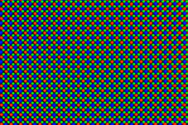 OLED-Panel mit RGBG-Diamond-Matrix (Bild: Tobias Költzsch/Golem.de)
