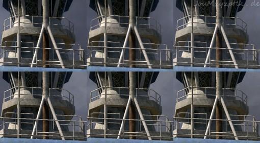 1:1-Vergleich von Full-HD (oben links) bis Downsampling mit 6K (unten rechts). (Screenshot: Joachim Otahal)