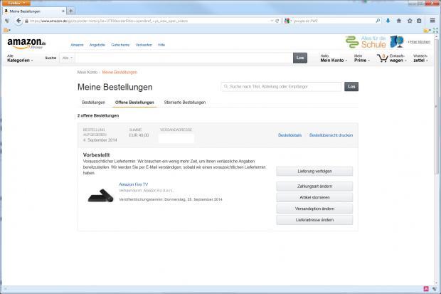 Einen genauen Termin nennt Amazon nicht. (Screenshot: Golem.de)