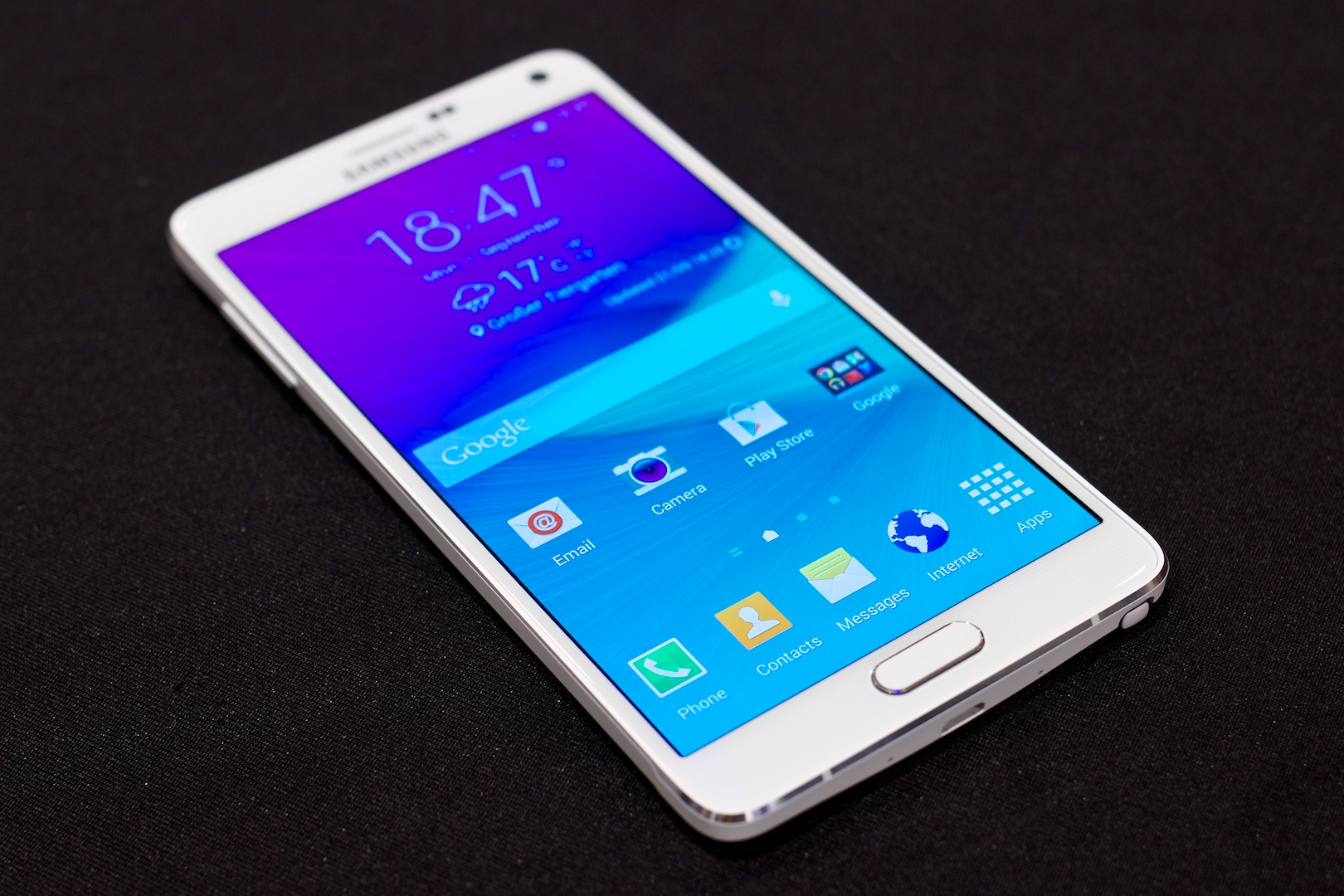 Markteinführung verzögert sich: Samsung bringt Galaxy Note 4 später - Das neue Galaxy Note 4 von Samsung (Bild: Michael Wieczorek/Golem.de)