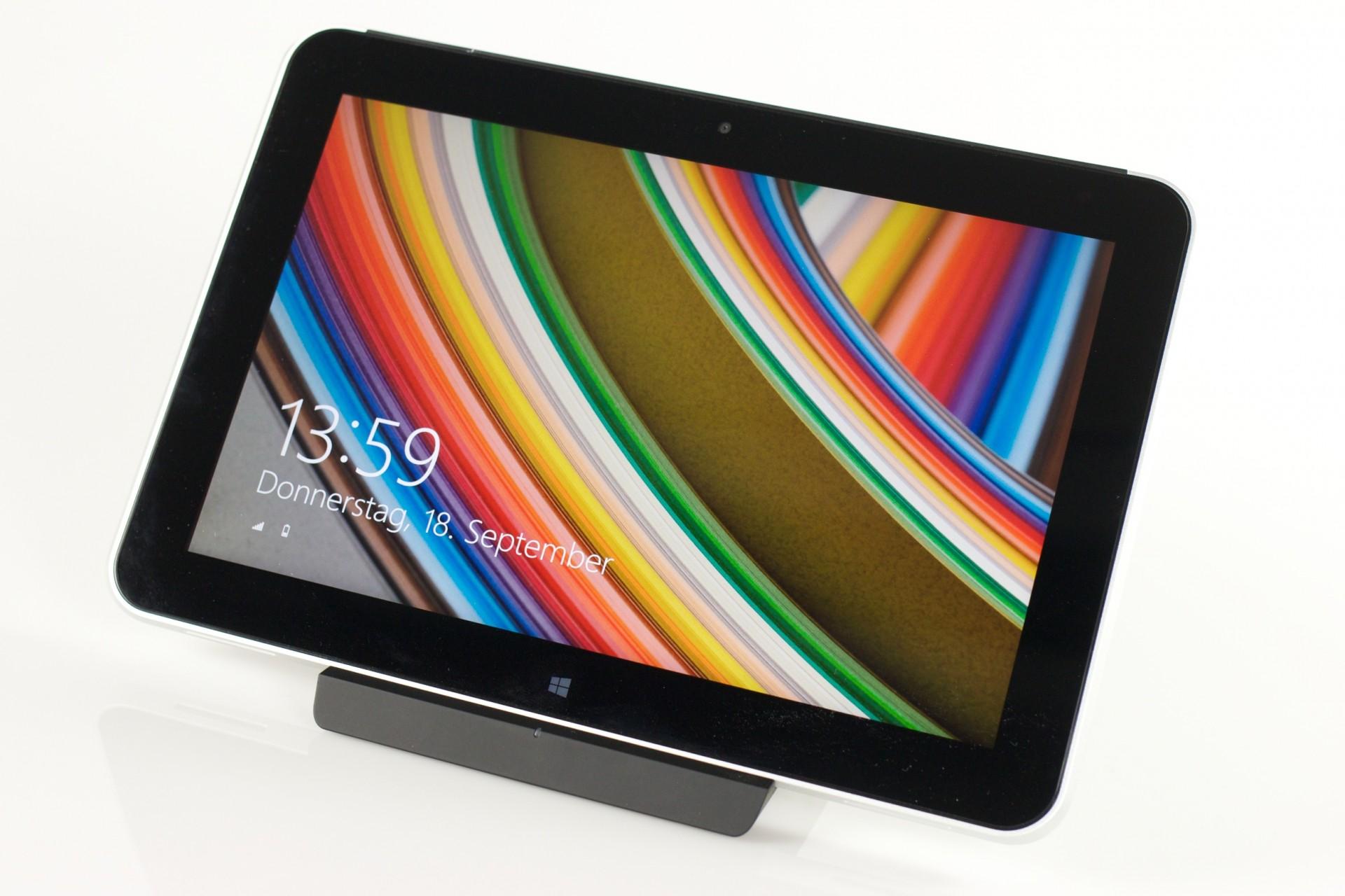 HP Elitepad 1000 G2 im Test: Praktisches Arbeitsgerät dank Zubehör - Das HP Elitepad 1000 G2 (Bild:Michael Wieczorek/Golem.de)