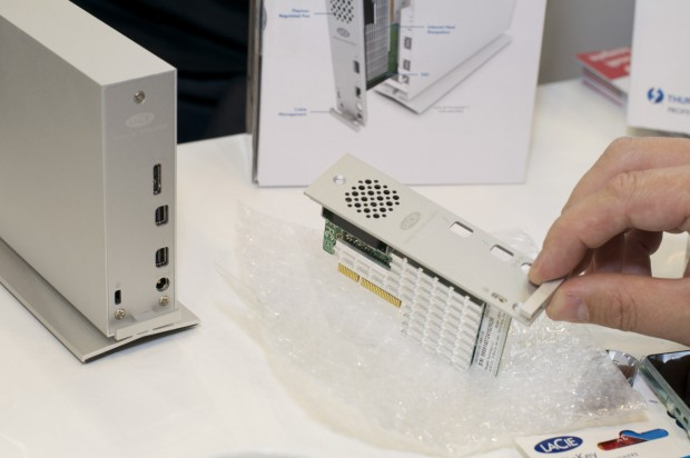 Lacie d2 mit noch nicht eingebautem SSD-Modul (Foto: Andreas Sebayang/Golem.de)