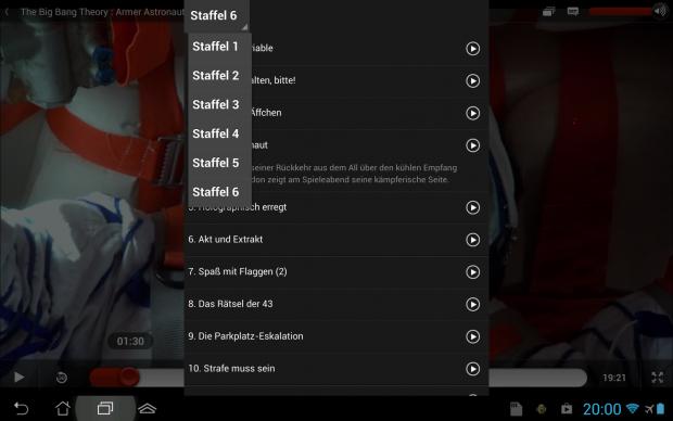 Direkter Staffelwechsel bei Netflix unter Android