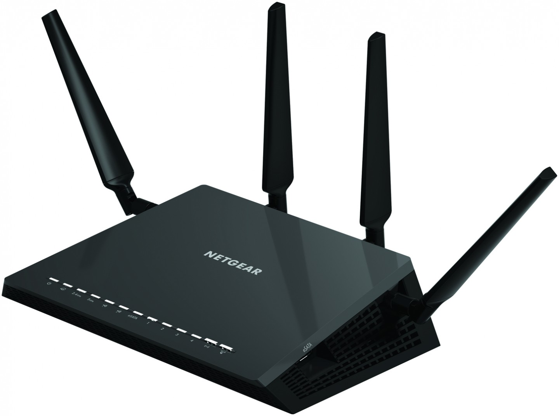 Netgear Nighthawk X4 R7500: 4x4-Router mit Dualband, USB 3.0 und eSata - Der Router Nighthawk X4 R7500. (Bild: Netgear)