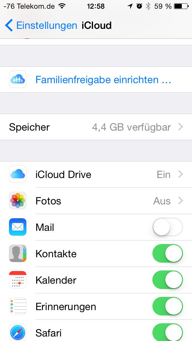 Apples iOS 8 im Test: Das mittelmäßigste Release aller Zeiten - Apples iCloud Drive ist mehr als eine Umbenennung des Dienstes. (Screenshot: Golem.de)