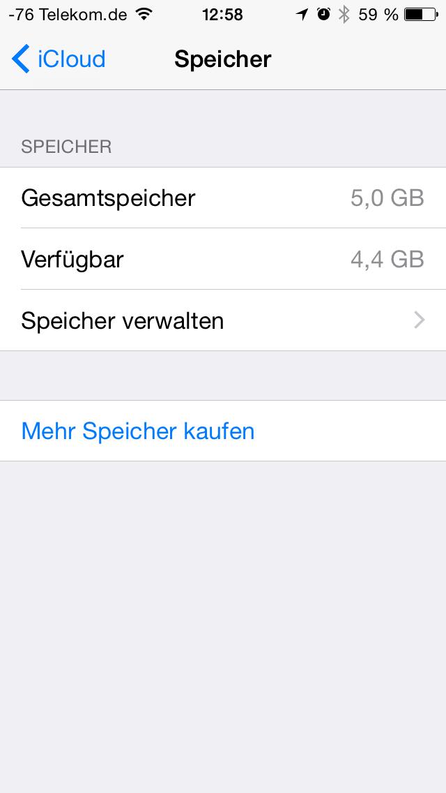 Apples iOS 8 im Test: Das mittelmäßigste Release aller Zeiten - Die Verwaltung des Speichers wurde umgebaut. (Screenshot: Golem.de)