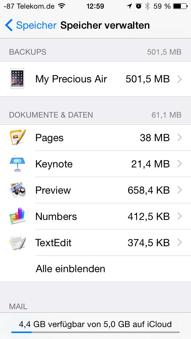 Apples iOS 8 im Test: Das mittelmäßigste Release aller Zeiten - Dabei bleibt es zwar bei der alten App-basierten Unterteilung ... (Screenshot: Golem.de)