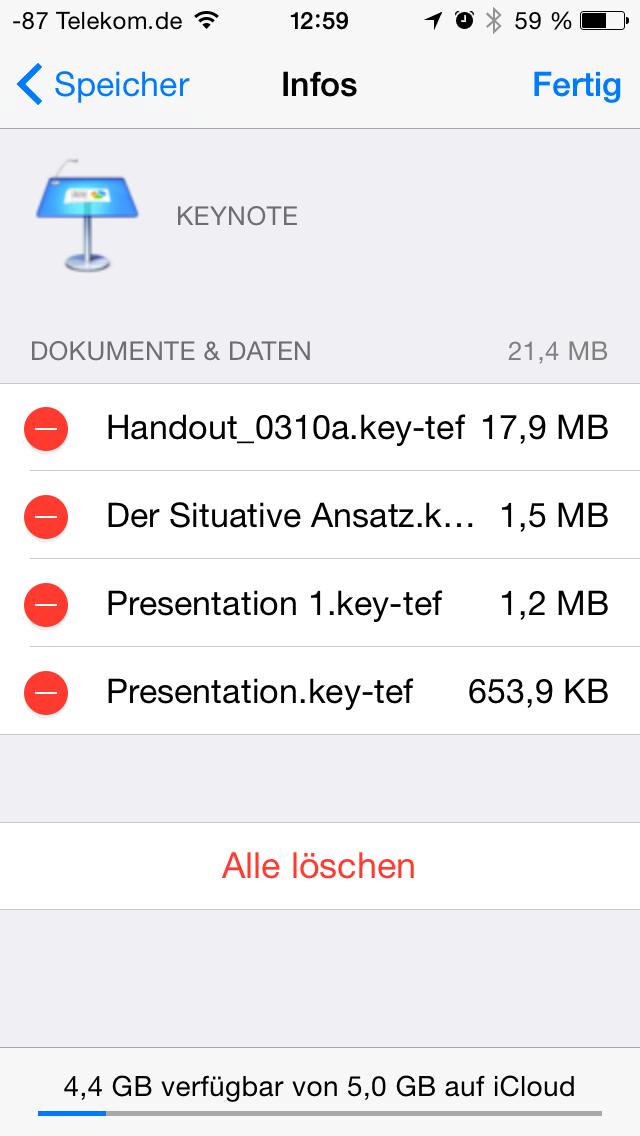 Apples iOS 8 im Test: Das mittelmäßigste Release aller Zeiten - ... und ist damit vergleichbar mit Diensten wie Dropbox. (Screenshot: Golem.de)