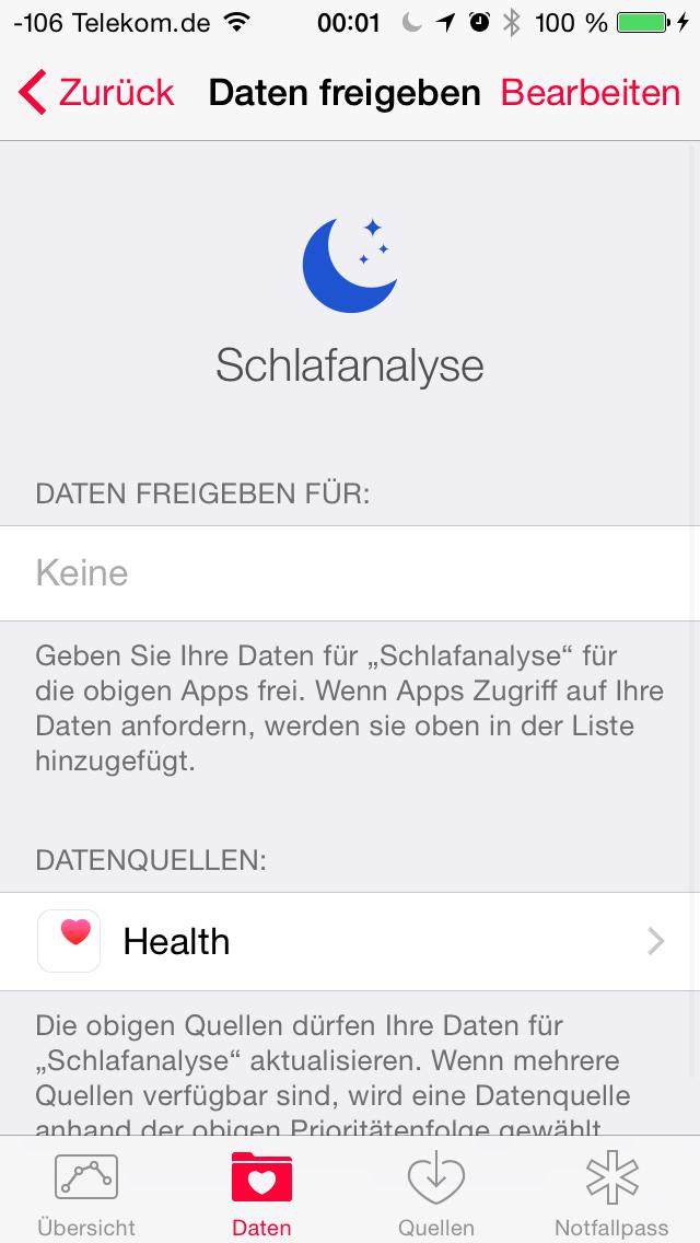 Apples iOS 8 im Test: Das mittelmäßigste Release aller Zeiten - Die Interaktion mit anderen Apps ist vorgesehen. (Screenshot: Golem.de)