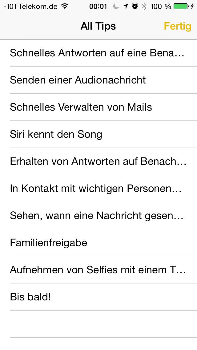 Apples iOS 8 im Test: Das mittelmäßigste Release aller Zeiten - ... fungiert als eine Mini-Anleitung ... (Screenshot: Golem.de)