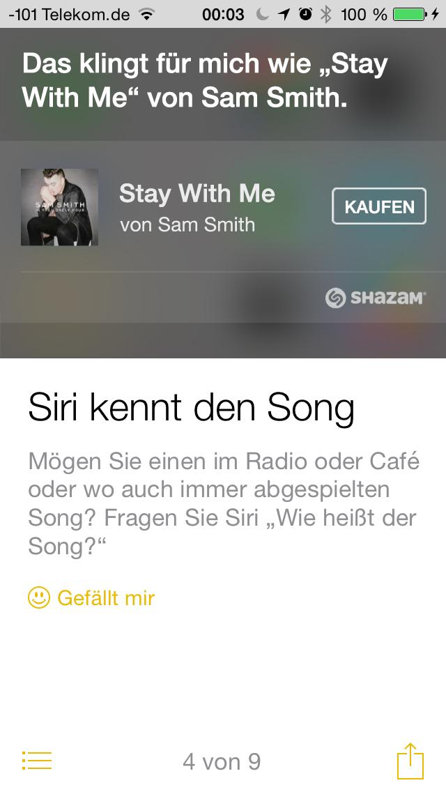 Apples iOS 8 im Test: Das mittelmäßigste Release aller Zeiten - ... und hilft vor allem bei Funktionen, auf die der Anwender nicht von alleine kommt. (Screenshot: Golem.de)
