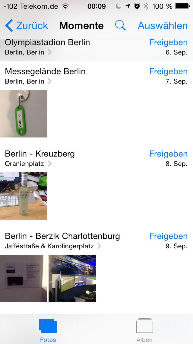 Apples iOS 8 im Test: Das mittelmäßigste Release aller Zeiten - Praktisch ist die Suche in der Foto-App.(Screenshot: Golem.de)
