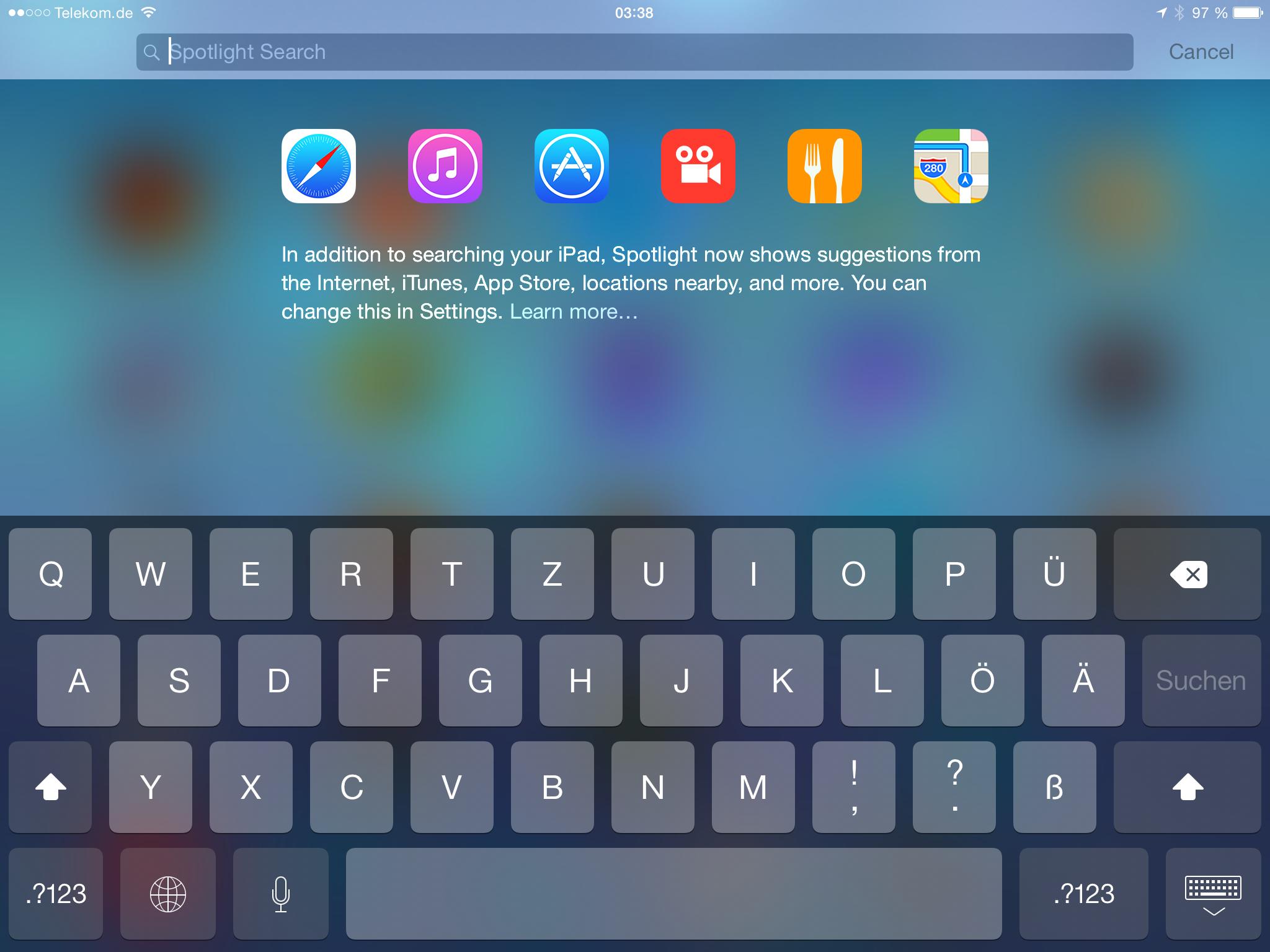 Apples iOS 8 im Test: Das mittelmäßigste Release aller Zeiten - Funktionierte bei uns nicht so recht: die Anbindung ans Internet. (Screenshot: Golem.de)
