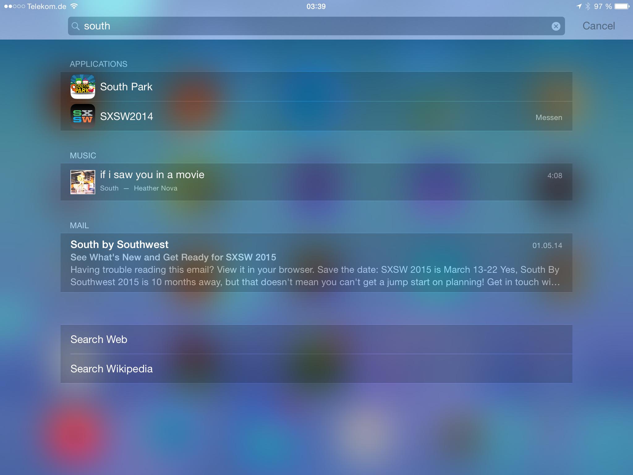 Apples iOS 8 im Test: Das mittelmäßigste Release aller Zeiten - ... und E-Mails. (Screenshot: Golem.de)