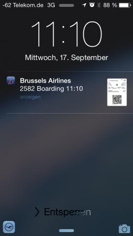 Das kleine Symbol in der Ecke deutet auf einen möglichen Handoff hin. (Screenshot: Golem.de)