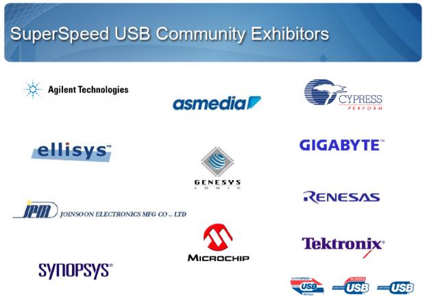 Diese Unternehmen entwickeln für Typ C und 3.1 und stellen auf dem IDF aus. (Bild: USB-IF)