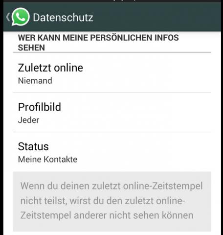 Für Jeden Sichtbar Whatsapp ändert Datenschutzeinstellungen