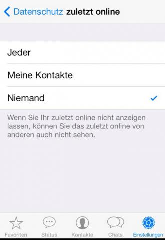 Zuletzt Online Whatsapp Sehen Obwohl Ausgeschaltet