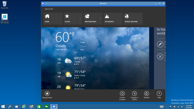 Modern-UI-Apps können nun im Fenster laufen. (Bild: Microsoft)